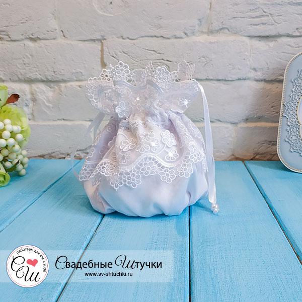 """Свадебная сумочка для невесты """"Сказка"""" (белый)"""