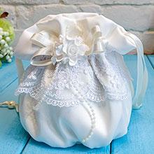 """Сумочка - мешочек для невесты """"Семирамида"""" (айвори)"""