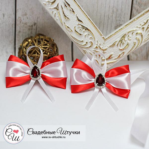 Комплект свадебных аксессуаров для свидетелей Афродита (2 шт) (красный)