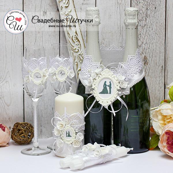 Комплект свадебных аксессуаров Летний вечер (белый)
