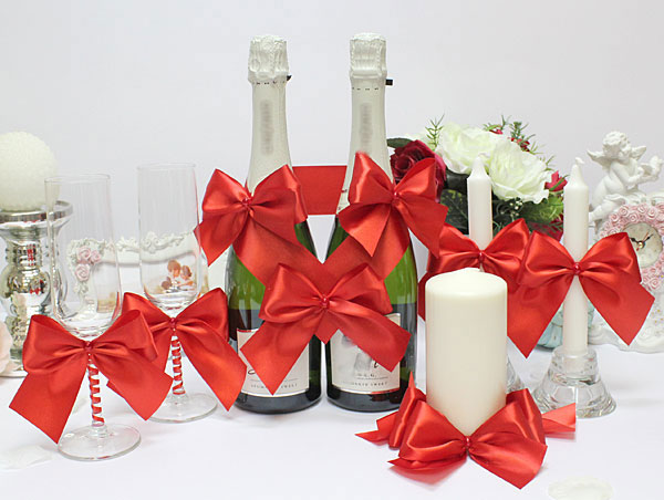 Набор свадебных аксессуаров Paradise (красный)