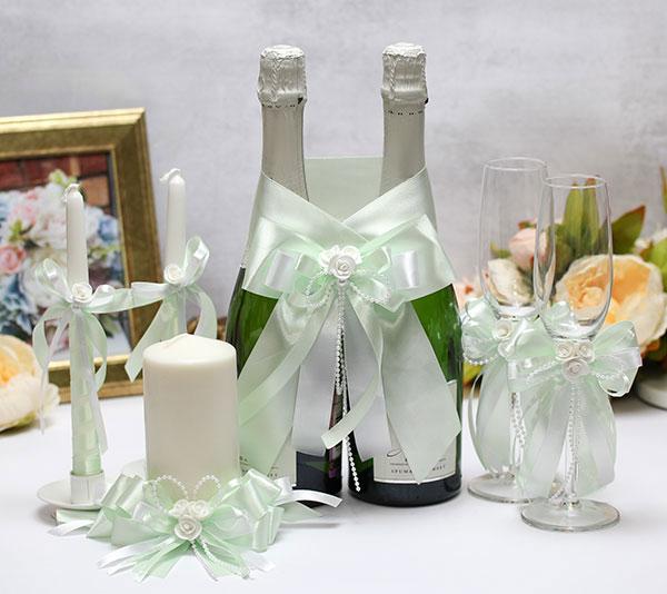 Комплект свадебных аксессуаров Fantastic (мятный)