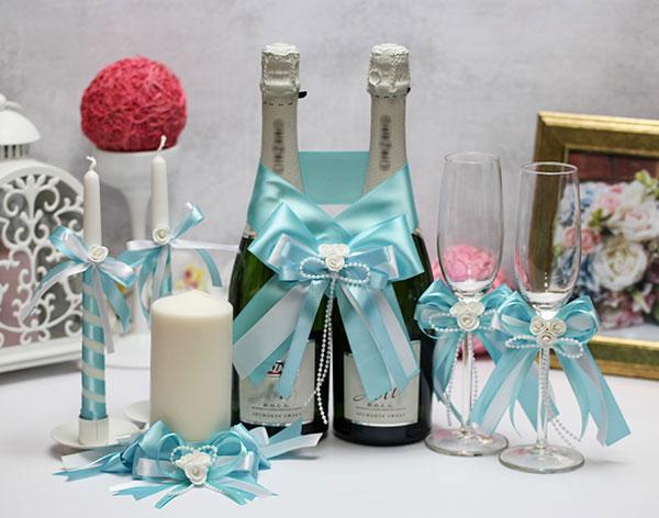 Комплект свадебных аксессуаров Fantastic (лазурный)
