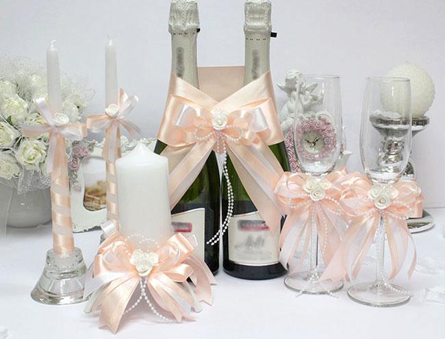 Комплект свадебных аксессуаров Fantastic (персиковый)