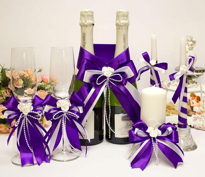 Комплект свадебных аксессуаров Fantastic (фиолетовый)