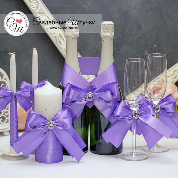 Комплект аксессуаров на свадьбу Ренессанс (сиреневый)