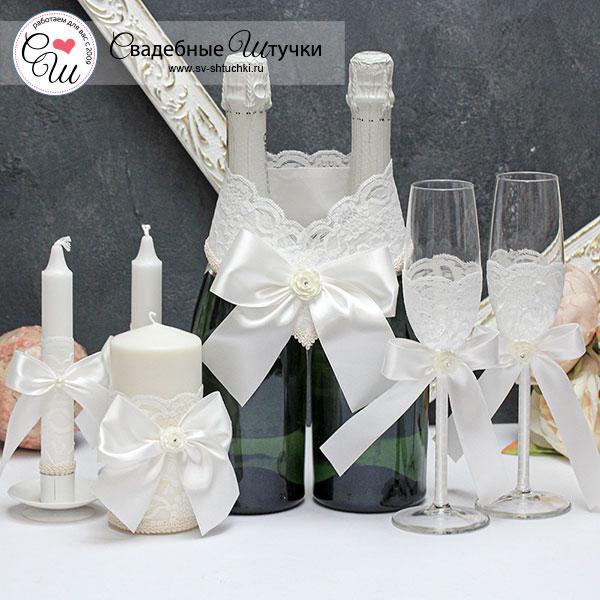 Комплект свадебных аксессуаров Rose (айвори)
