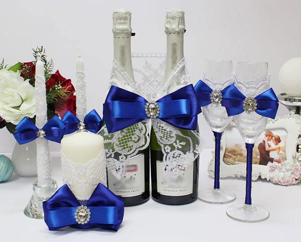 Комплект аксессуаров для свадьбы Портофино (синий)