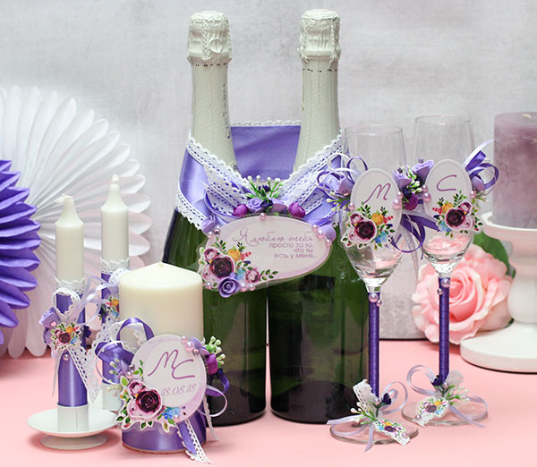 """Комплект свадебных аксессуаров """"Роскошные цветы"""""""