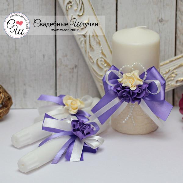 Домашний очаг + 2 свечи Romantic (сиреневый)