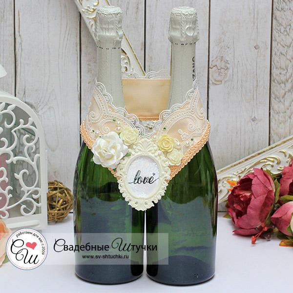 Украшение для шампанского Сливочный десерт (персиковый)