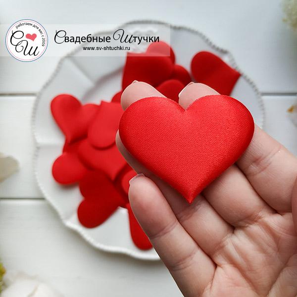 Сердечки для обсыпания или декора, 25 шт (5 см), красный
