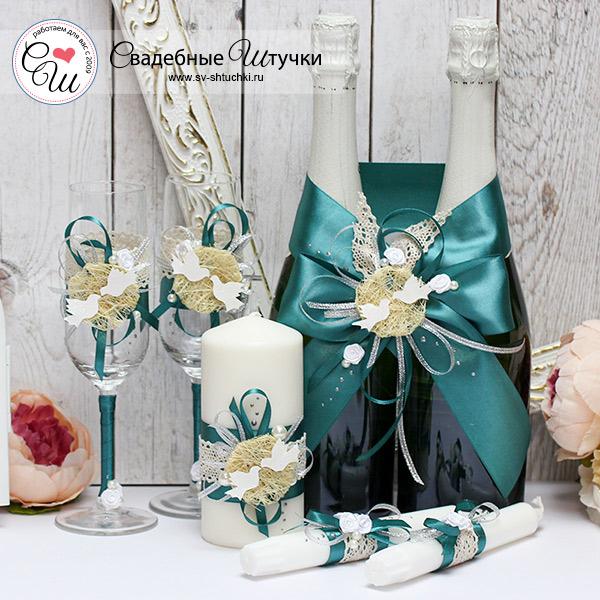 Комплект аксессуаров для свадьбы Семейное гнездышко (хвойный)