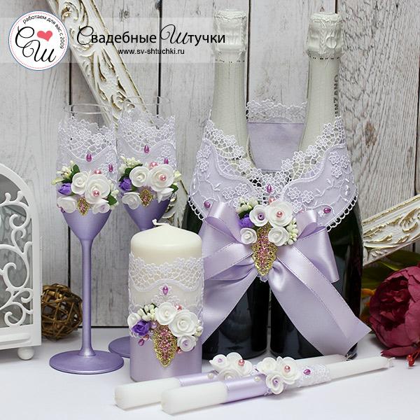 Набор свадебных аксессуаров Райский сад (сиреневый)