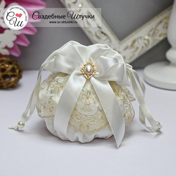 """Кружевная сумочка для невесты """"Винтажный шик"""" (айвори)"""