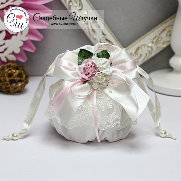 Красивая сумочка для невесты Таинственный сад (айвори)