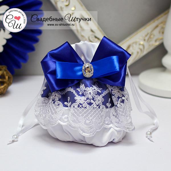 """Свадебная сумочка для невесты """"Портофино"""" (синий)"""