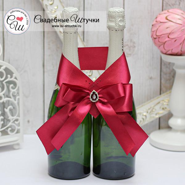 Свадебное украшение для шампанского Ренессанс (винный)