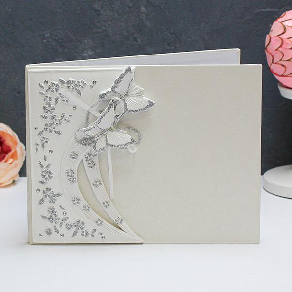"""Книга пожеланий на свадьбу с местом для фото """"Полет влюбленных бабочек"""""""
