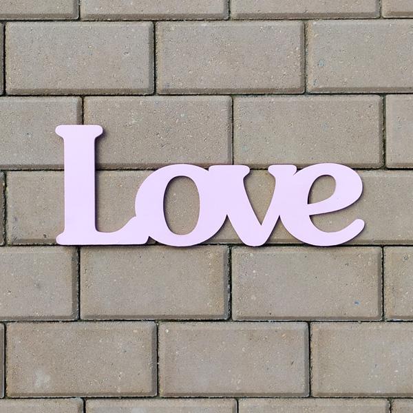 Слово для фотосессии Love (40 см) (розовый)