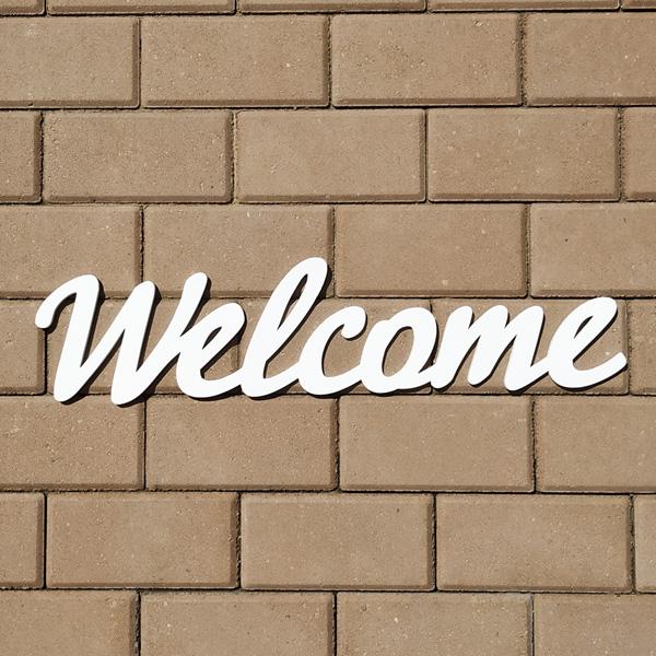 Слово для фотосессии Welcome (60 см) (белый)