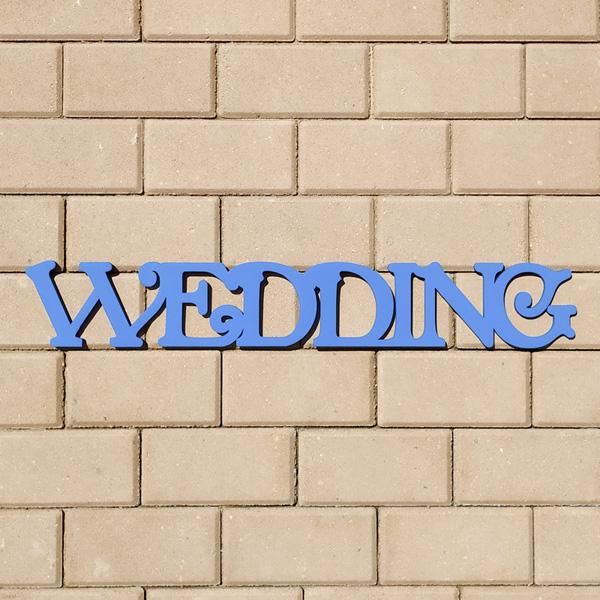 Слово для фотосессии Wedding (70 см) (голубой)