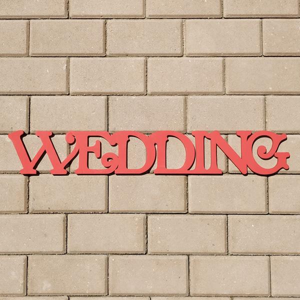 Слово для фотосессии Wedding (70 см) (красный)