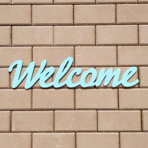 Слово для фотосессии Welcome (60 см) (бирюзовый)
