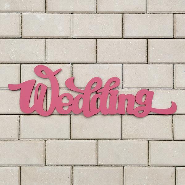 Слово для фотосессии Wedding (65 см) (малиновый)