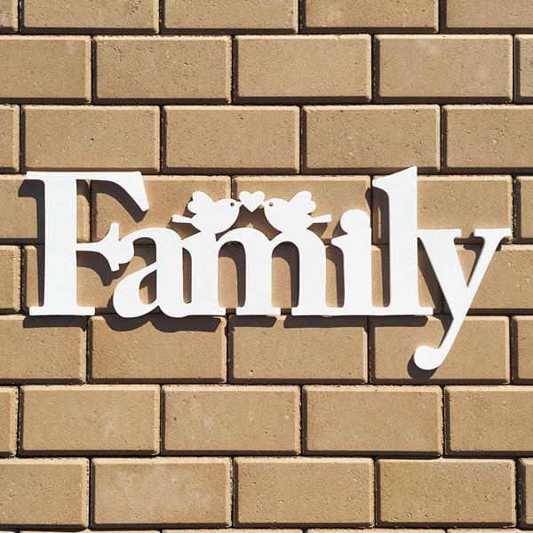 """Слова для фотосессии """"Family"""" (белый) 67 см"""