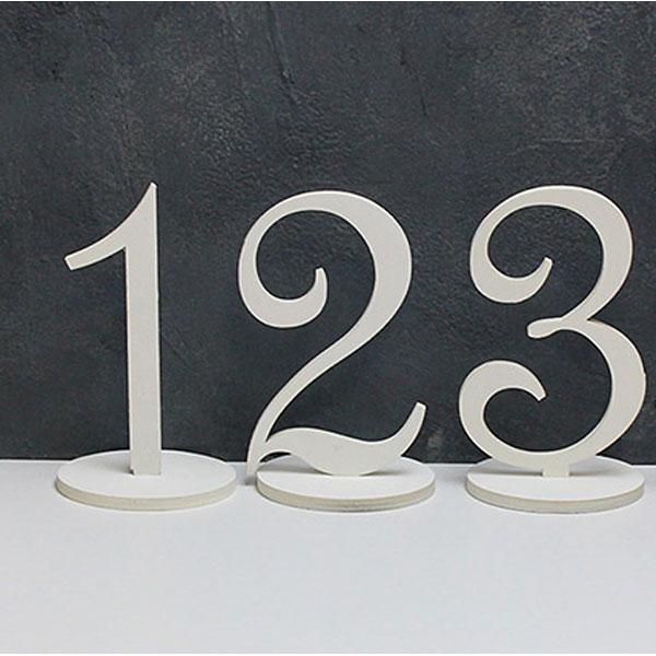 Набор деревянных номеров столов (1-3, белый)
