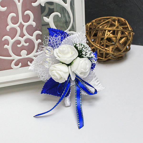 Бутоньерка для жениха Макс (синий)
