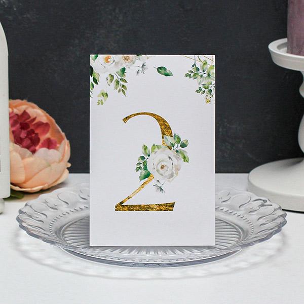 "Карточка с номером стола ""Розанна"""