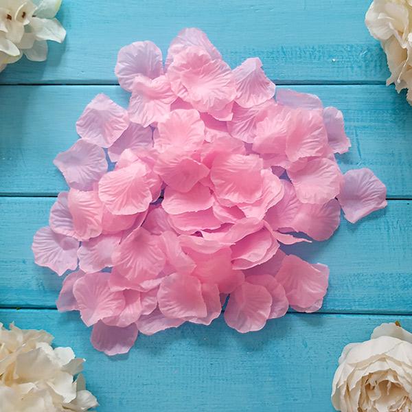 Искусственные лепестки роз (розовый)