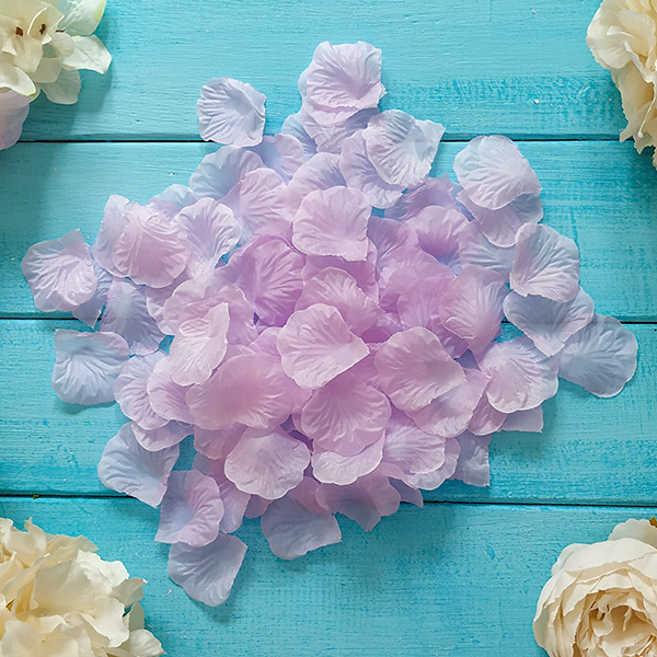 Искусственные лепестки роз (сиреневый)