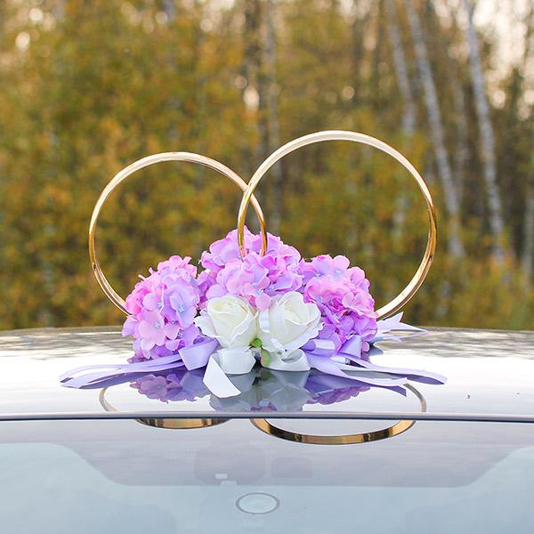 Кольца на крышу машины Виолла (сиреневый/айвори)