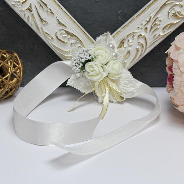 Браслет для подружек невесты Букетик (айвори)