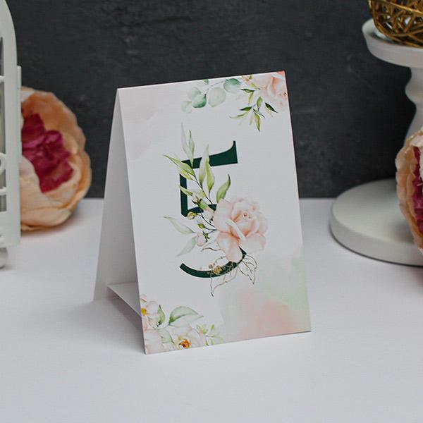 """Карточка с номером стола """"Таинственный сад"""""""