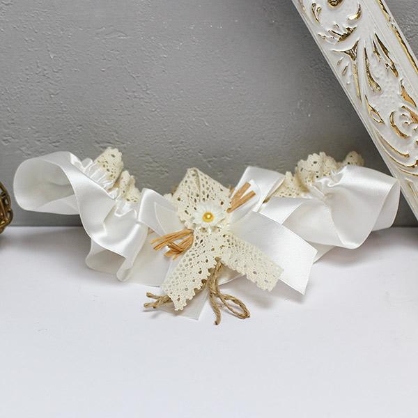 """Свадебная подвязка """"Полевые цветы"""""""
