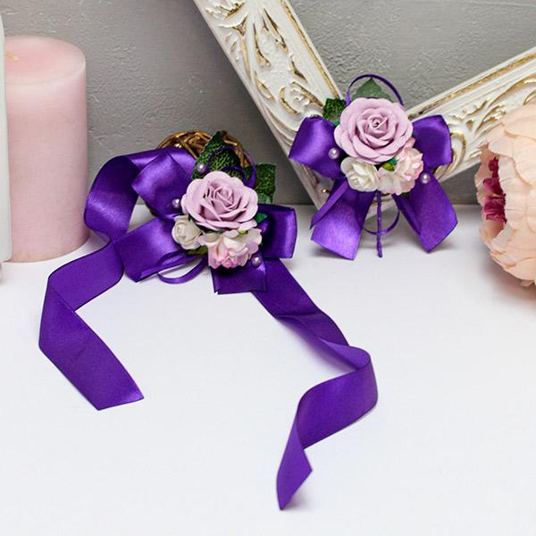 Набор свадебных аксессуаров для свидетелей Таинственный сад (фиолетовый)