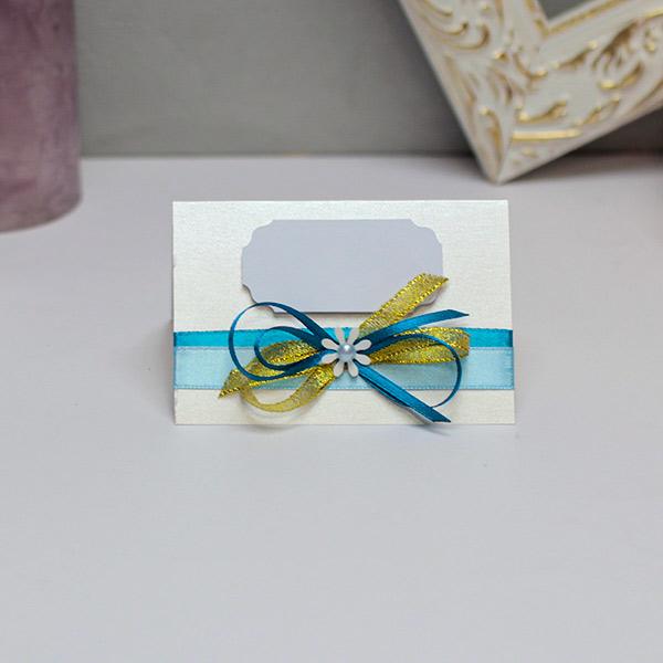 Банкетная карточка для гостей Семейное гнездышко (голубой)