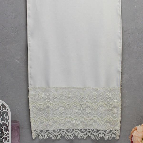 """Венчальный рушник или для каравая """"Цветочный вальс"""" (айвори)"""