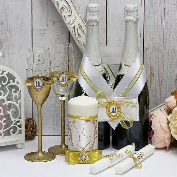 Комплект свадебных аксессуаров  В блеске золота (золотой)