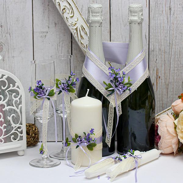 Набор свадебных аксессуаров Любовный этюд (сиреневый)