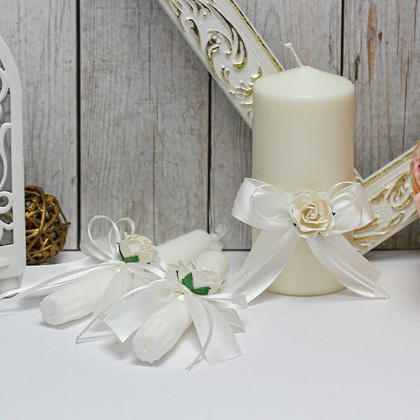 """Набор свадебных свечей """"Эстэль"""" (без подсвечников) (айвори)"""