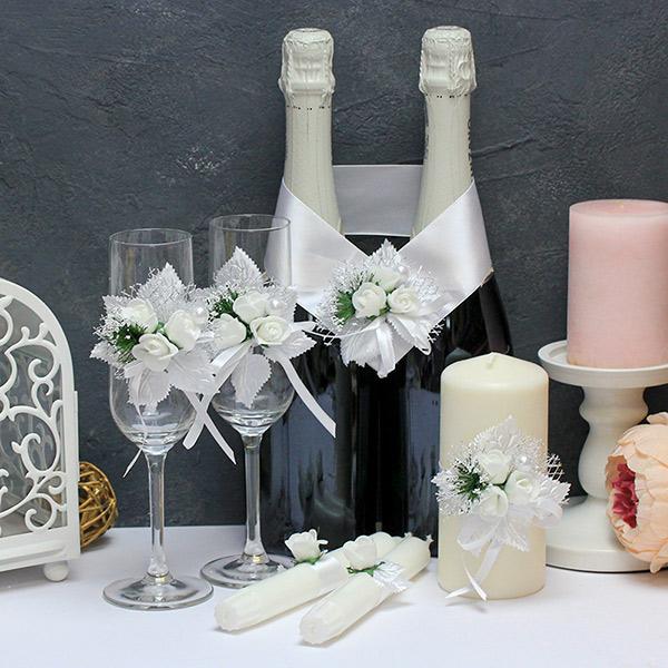 Набор свадебных аксессуаров Букетик (белый)