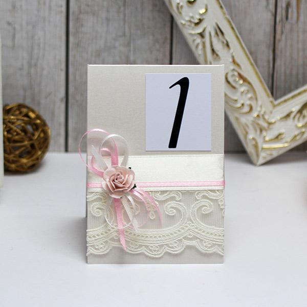 Карточка с номером стола Таинственный сад (айвори)