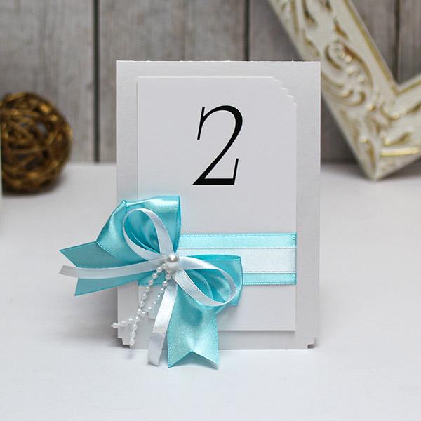 """Карточка с номером стола """"Fantastic"""" (лазурный) (1 шт)"""
