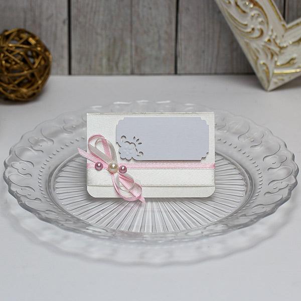 Банкетная карточка для гостей Таинственный сад (айвори)
