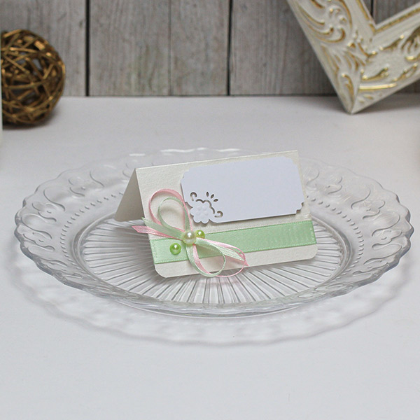 Банкетная карточка для гостей Таинственный сад (мятный)